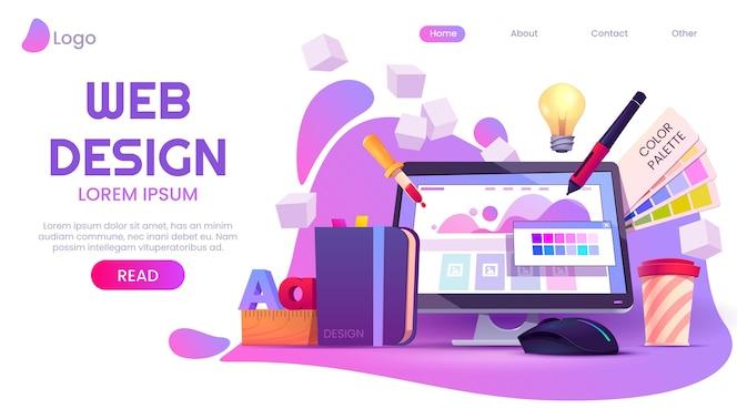 Cartoon-webdesign-landingpage