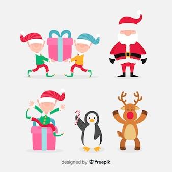 Cartoon weihnachten zeichen sammlung