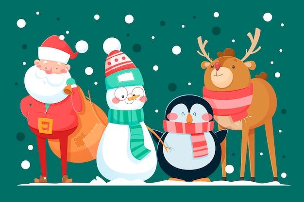 Cartoon weihnachtsfiguren sammlung