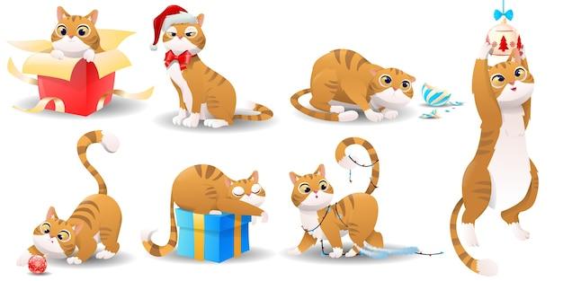 Cartoon weihnachtskatze