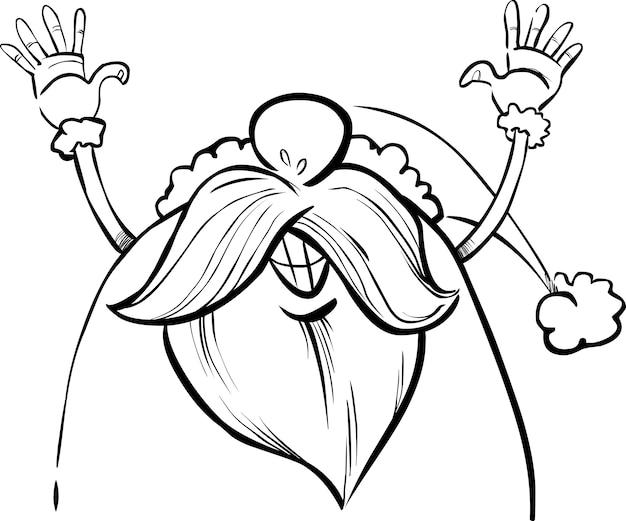 Cartoon weihnachtsmann für malbuch
