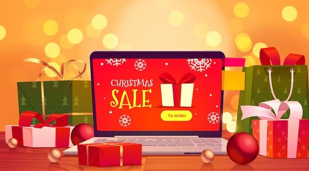 Cartoon weihnachtsverkauf hintergrund