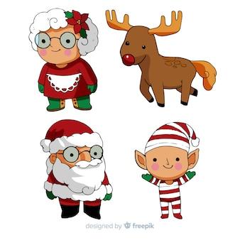 Cartoon-weihnachtszeichensammlung