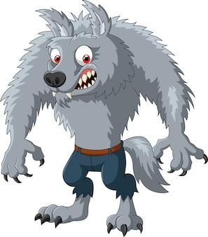 Cartoon wütend werwolf charakter