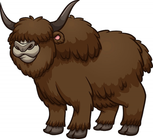 Cartoon-yak