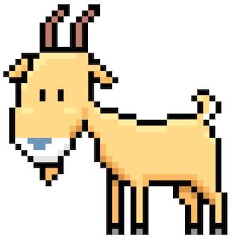 Cartoon-ziege-pixel-design