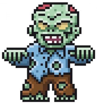 Cartoon-zombie-pixel-design