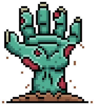 Cartoon-zombie-pixel-design