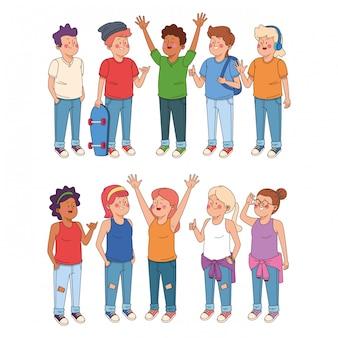 Cartoons für jungen und mädchen