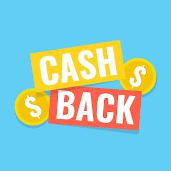 Cash back aufkleber