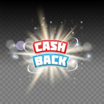Cash-back-schriftzug