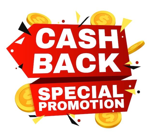 Cash-back-vektor-label