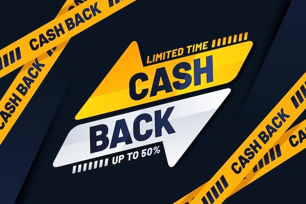 Cashback-banner mit sonderangebot