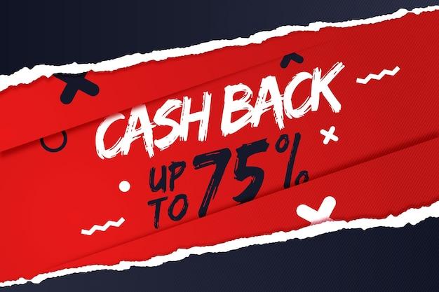 Cashback-banner mit sonderrabatt