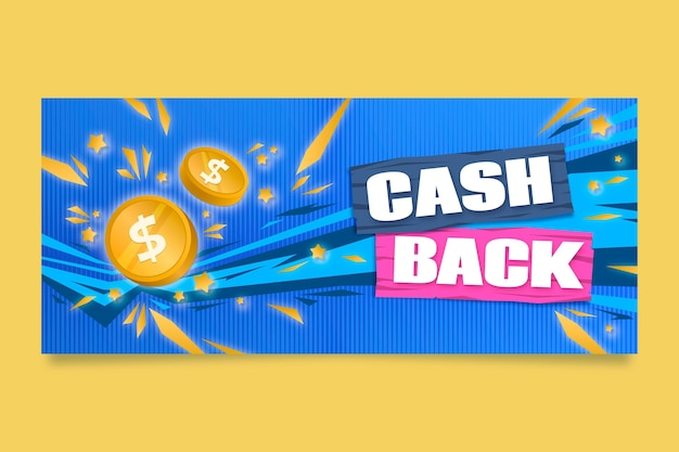 Cashback-banner-vorlage Kostenlosen Vektoren