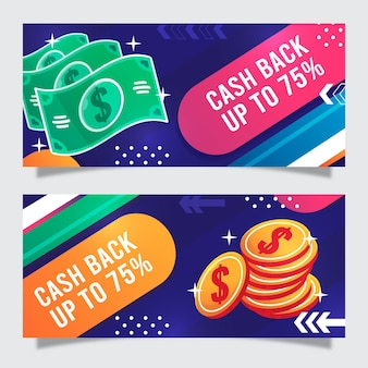 Cashback-banner-vorlage