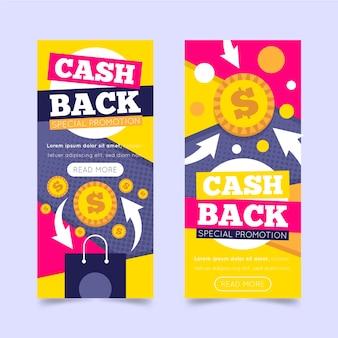 Cashback-banner-vorlagenpaket