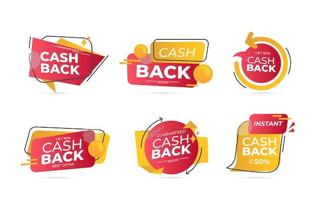 Cashback-etiketten design mit angebot