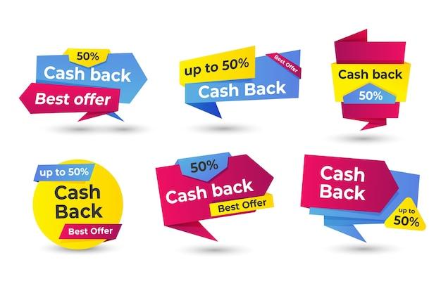 Cashback-etiketten-konzept