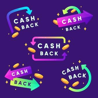 Cashback-etikettensammlung