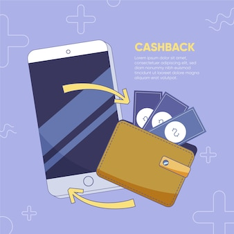 Cashback-konzept mit smartphone