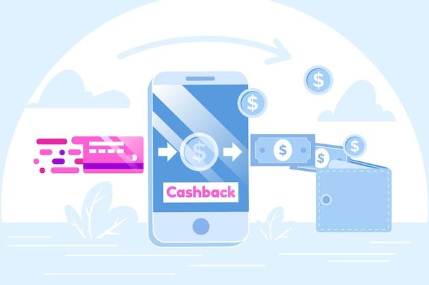 Cashback-konzept