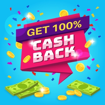 Cashback-konzeptillustration