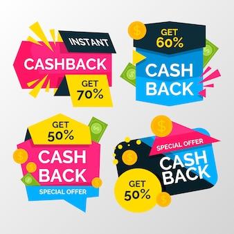 Cashback-sammlung mit rabatt