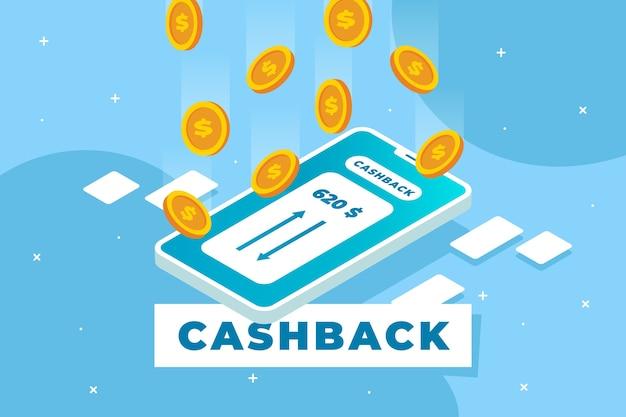 Cashback thematisches konzept