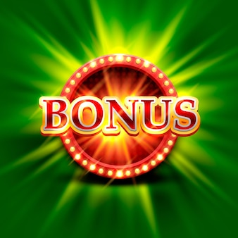 Casino-bonusbanner auf hellgrünem hintergrund. vektor-illustration