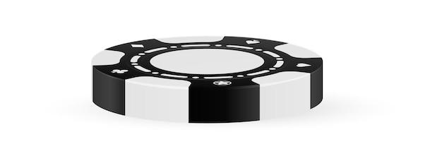 Casino-chip isoliert auf weißem hintergrund