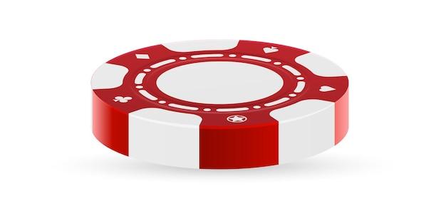 Casino chip seitenansicht lokalisiert auf weißem hintergrund
