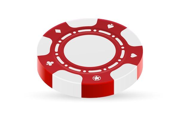 Casino chip vorderansicht lokalisiert auf weißem hintergrund