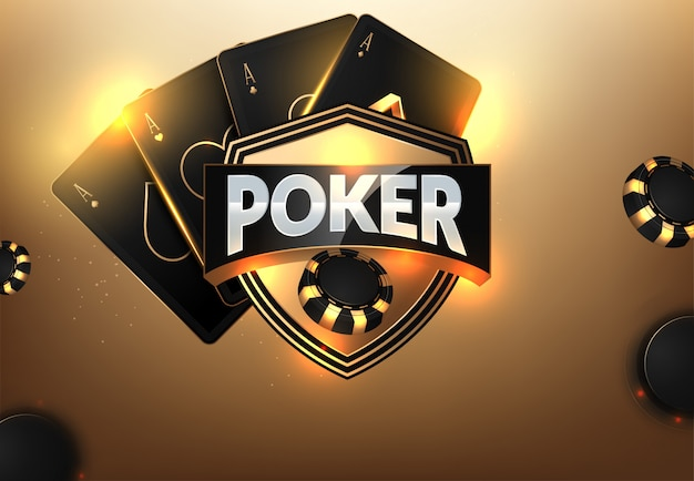 Casino-chips, karten und platz für text