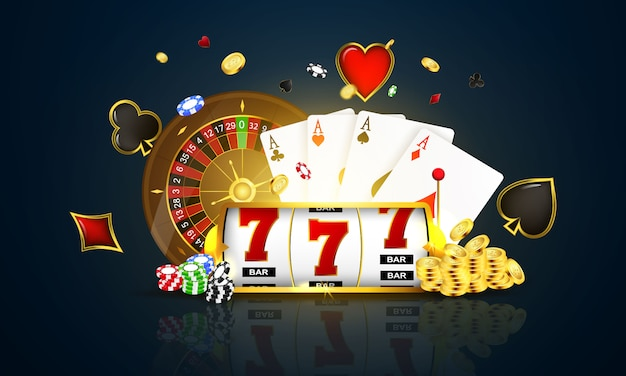 Casino-chips mit realistischen spielmarken, bargeld für roulette oder poker,