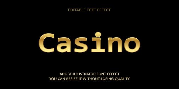 Casino editable text effect schriftart