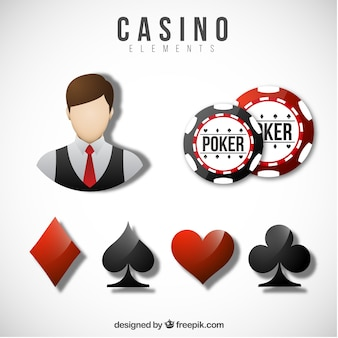 Casino-elemente sammlung