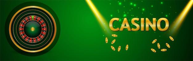 Casino-glücksspiel mit roulette-rad und spielkarten