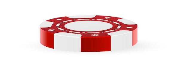 Casino-glücksspielchip lokalisiert auf weißem hintergrund