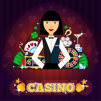 Casino-händler-konzept