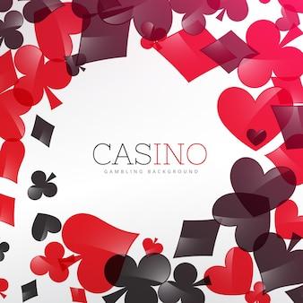Casino hintergrund design mit spielkarten symbol