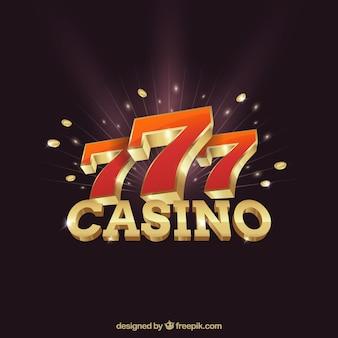 Casino hintergrund mit nummer sieben