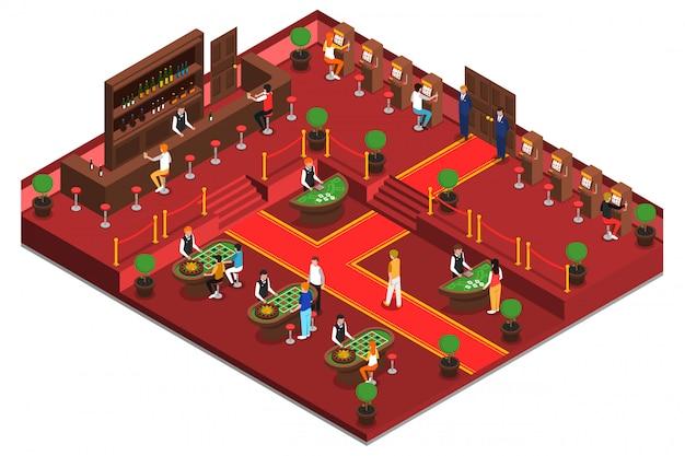 Casino isometrischer innenraum