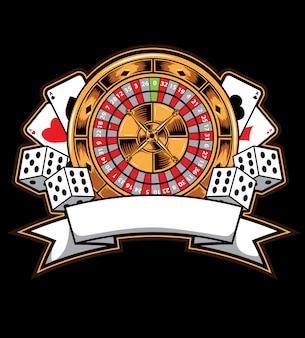 Casino-kartenvektor