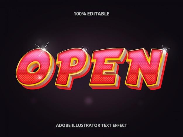 Casino lamp text effekt
