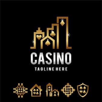 Casino-logo mit mehreren formen