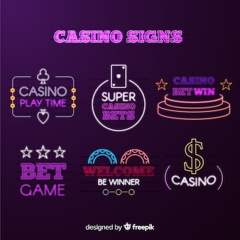 Casino neon signsammlung