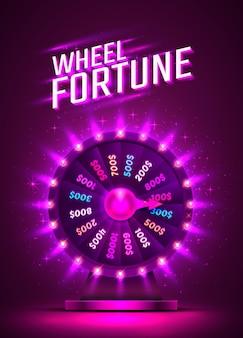Casino neonfarbenes glücksrad