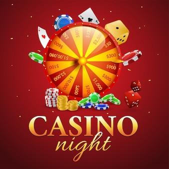 Casino night banner oder vorlage.