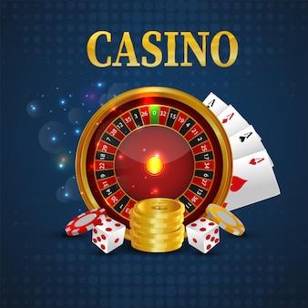 Casino-online-glücksspiel-feierhintergrund